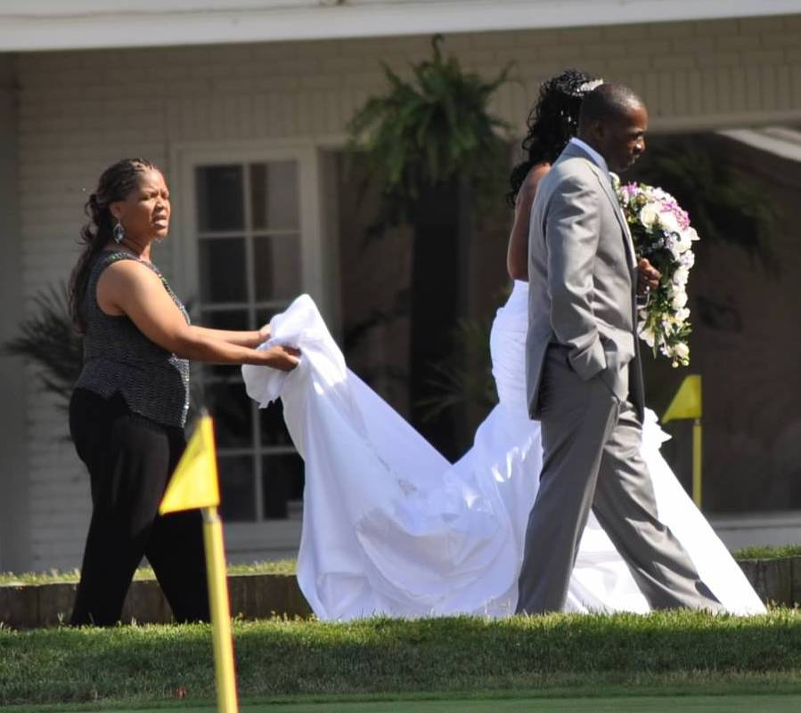 steph pict at wedding
